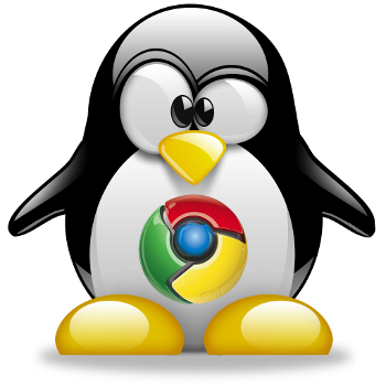 How to install Google Chrome web browser on Debian Gnu Linux Chrome and tux logo