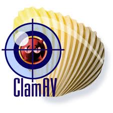 Clamav logo installing Clamav antivirus to scan periodically Debian server websites for viruses