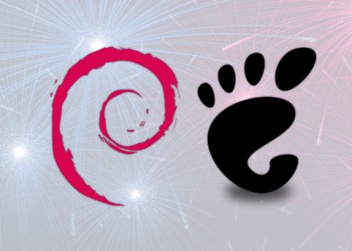 Debian and GNOME happy birthday anniversary