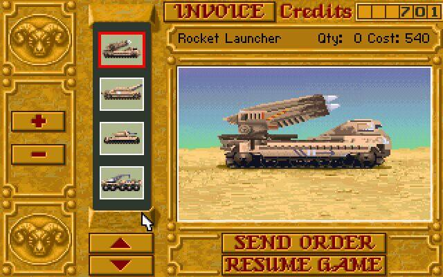 dune-2-tank-vehicle - one of best games computer games ever