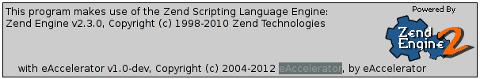 eaccelerator php cache engine debian squeeze screenshot