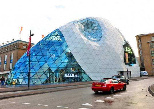 Eindhoven Holland Iglus Massive Shopping Center Winkel in form of Escimos (Eskimo) Iglu