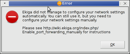 ekiga cant login to SIP protocol error enable port forwarding manually - ekiga is not ready to use on Linux
