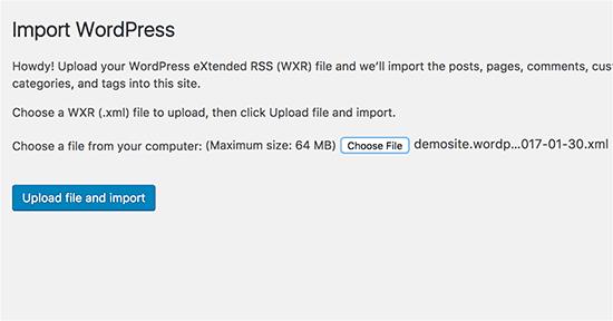export-and-import-wp-file-screenshot