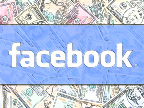 Facebook people real facebook investors, facebook profits because of you / facebook greedy money logo