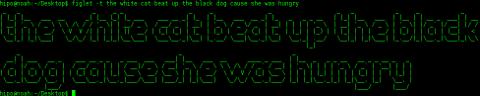 figlet ascii art banner sentence phrase to terminal width banner debian gnu linux