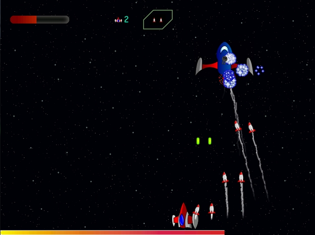 Garnatron Linux Spaceship arcade game screenshot