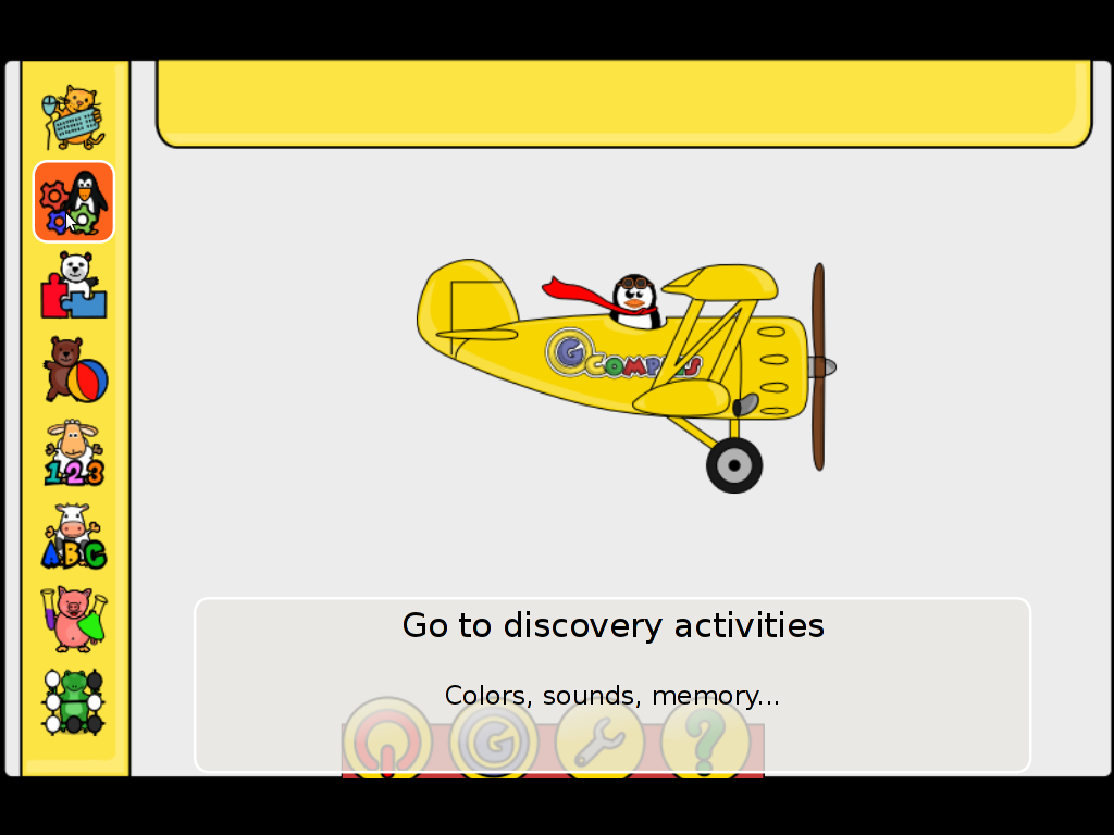 Gcompris educational kids develop intellect Discovery activities