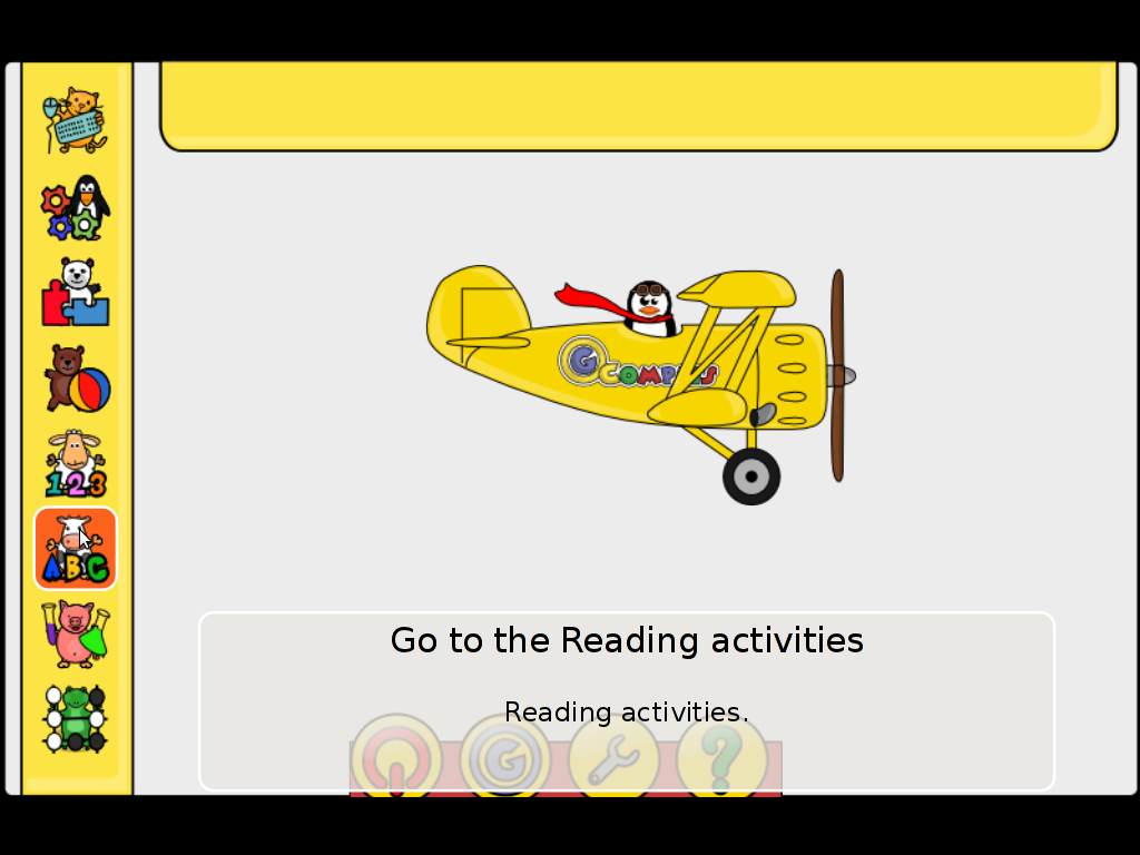 Gcompris reading activities