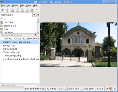 Geeqie Slackware Linux Screenshot XFCE
