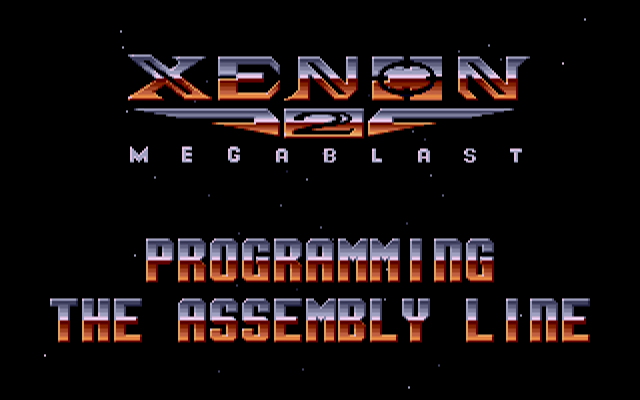 Xenon2 Main game Screen PC DOS ver