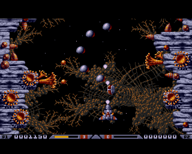 Xenon 2 megablast PC DOS level screenshot