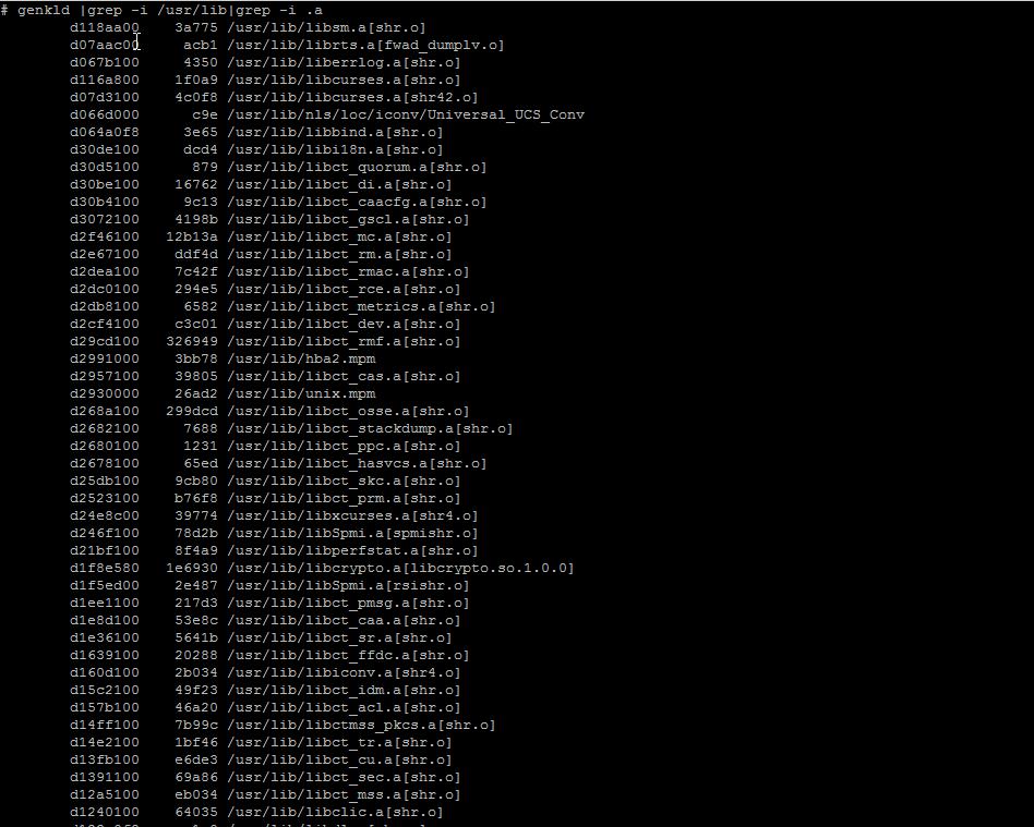 genkld-screenshot-aix-unix
