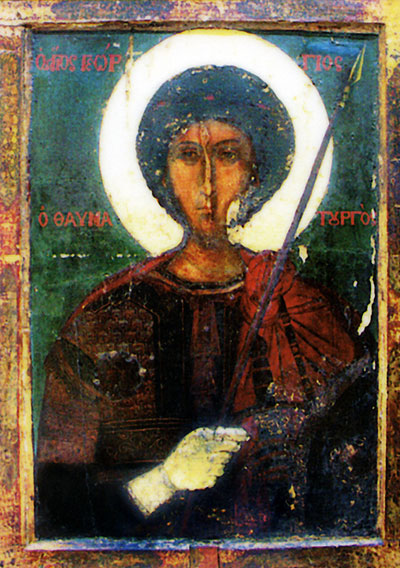 Saint Georgi Zographus miraculous making icon