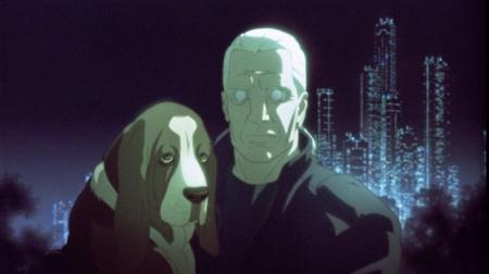 Ghost in the Shell I && II, Manga Anime Batou and his dog