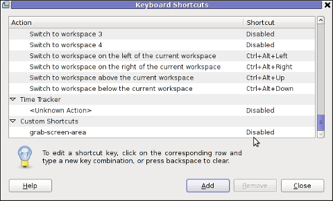 GNOME add keyboard shortcut map key