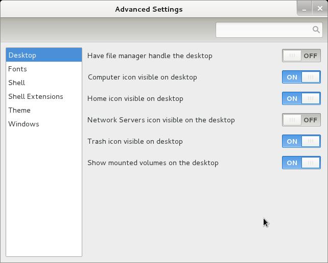 gnome-tweek-tool Debian GNU Linux wheezy sid screenshot