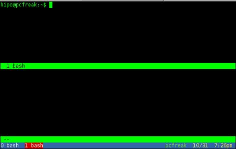 how to GNU Screen split windows Linux gnome-terminal shot