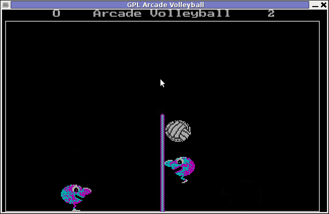 In the Game GPL Arcade Volleyball Debian GNU / Linux