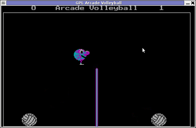 GPL Arcade Volleyball Arcade Inverted Theme - remake of DOS Volleyball Arcade