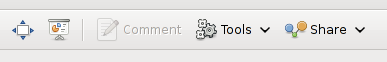 Gthumb Share button screenshot on my Debian Squeeze Linux