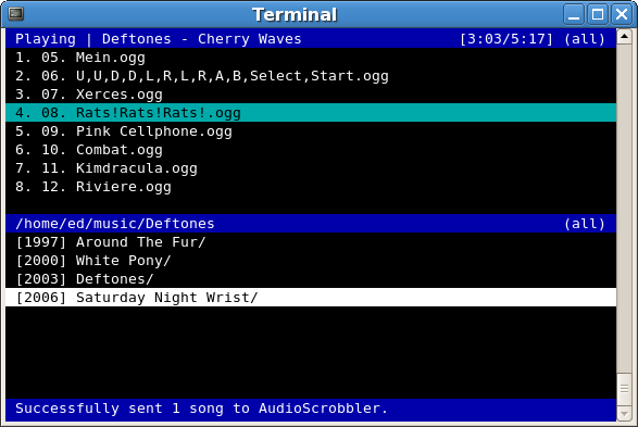 Herrie Minimalistic Music player for Linux and BSD