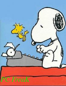 Snoopy writting watermarking picture on the bottom left corner imagemagick (composite)
