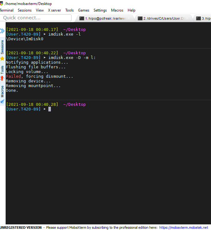 imdisk-detach-attached-drive-mobaxterm-windows-screenshot