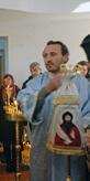 ipodeacon Georgi Nedev on a Bishop Church service holding the metropolitan sceptre