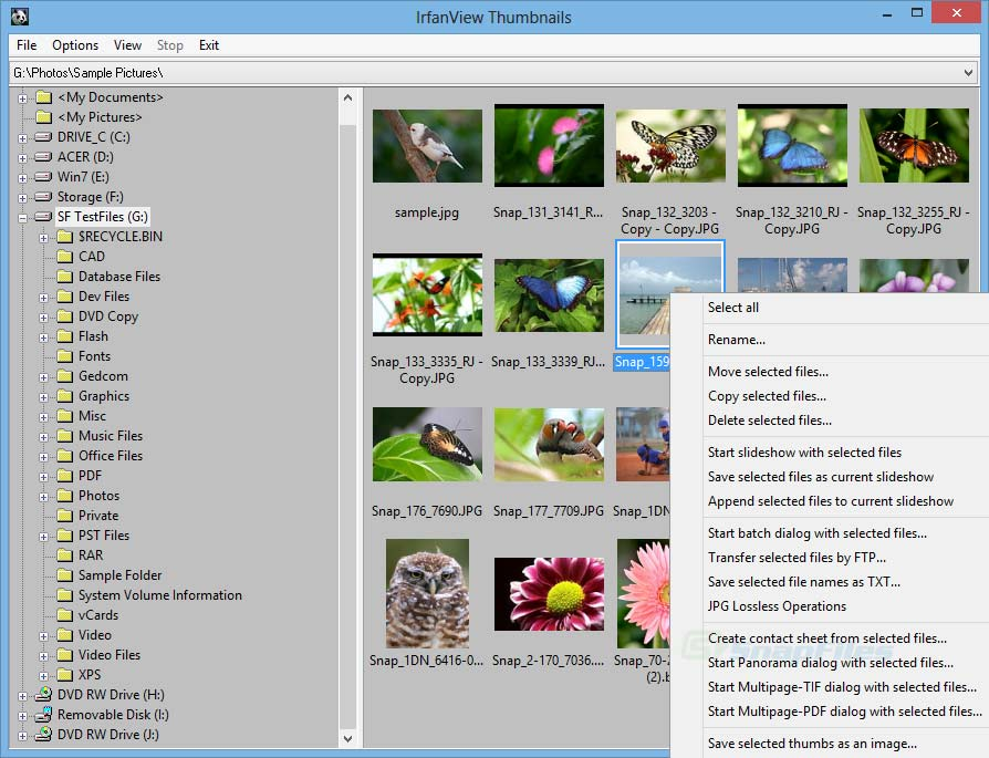 Irfanview windows 8 picture viewer alternative to default Microsoft Picture Viewer screenshot