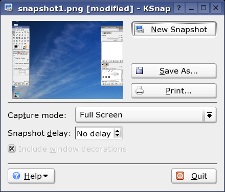 ksnapshot screenshot