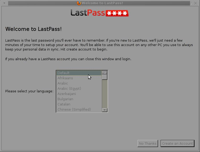lastpass entry screen firefox browser screenshot picture
