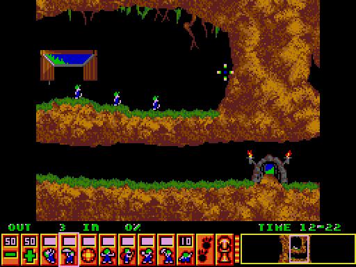 Lemmings arcade screenshot