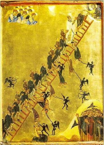 St.John Lestvichnik (of the Ladder) 12th, 13 century icon