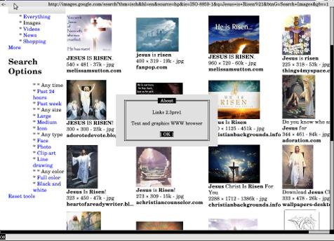 links graphics / xlinks images in X window on Debian GNU / Linux screenshot