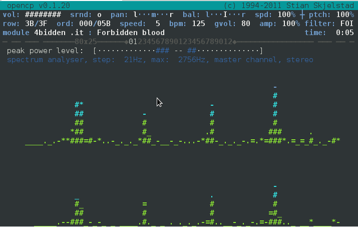 listening mp3 mod xm in console and terminal opencubicplayer ocp gnu linux debian
