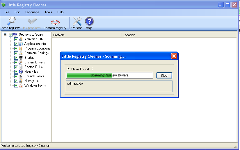 Little Registry Cleaner - Free and Open Source Software Windows XP Registry cleaner / Alternative to Registry Booster