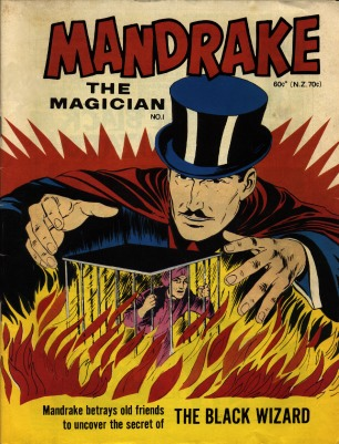 Mandrake the Magician Comics Magazine from 1930's Cover, Mandrake the Black Magic Magician