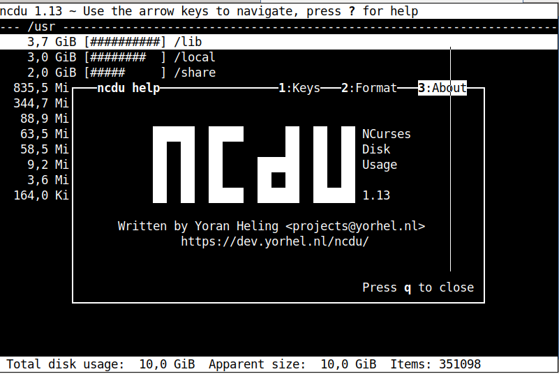 ncdu-gnu-linux-debian-screenshot