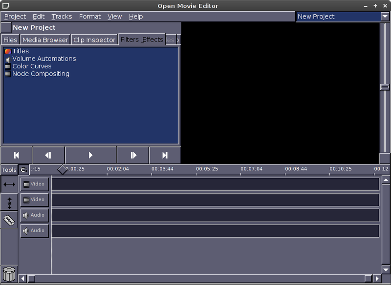 Openmovieeditor Linux create movies from images screenshot