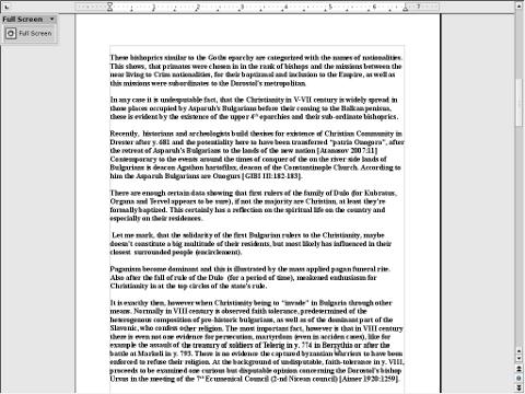 Openoffice / Libreoffice run in full screen screenshot pic Debian squeeze Linux