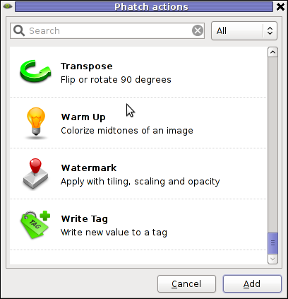 Phatch Linux Debian Squeeze Screenshot Watermark effect