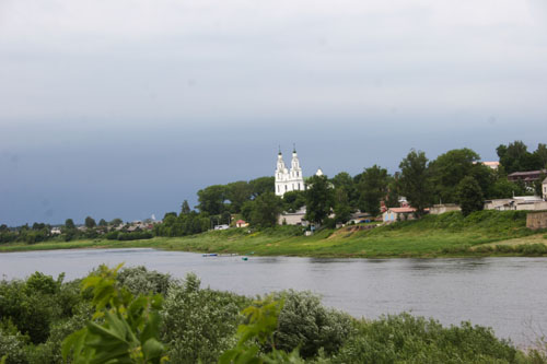 Polock River Dvina view