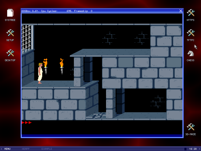 Prince of Persia running on 32 64 bit assembler written GPL free-OS