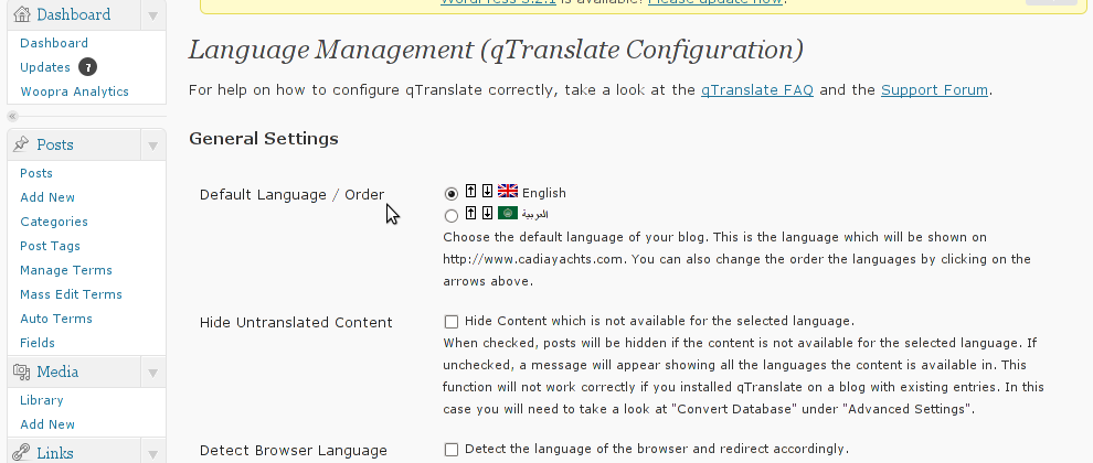 QTRanslate WordPress Language Translate Screenshot 1