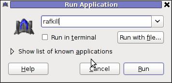 Rafkill Linux game gnome launcher screenshot