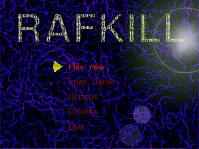 Rafkill raptor like native Linux game main menu screenshot Debian GNU / Linux Squeeze