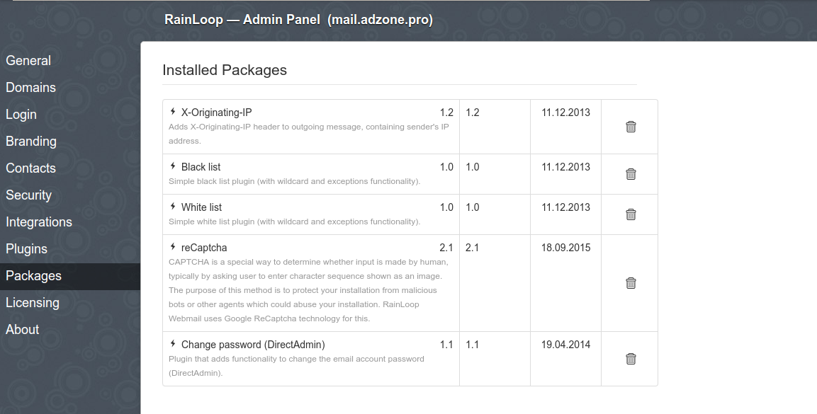 rainloop-php-webmaill-linux-installable-packages-screenshot