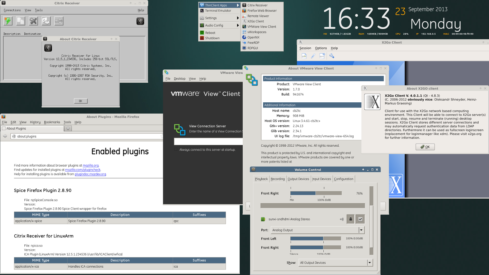 RaspberryPI linux as a free software hardware thinclient picture
