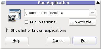 gnome-screenshot Run Application in GNOME 2.30 on Debian GNU / Linux